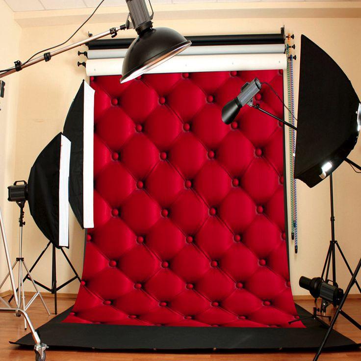 5X7FT 3D Красная стена Ткань Фотография Фон Фон Принадлежит Фотостудия