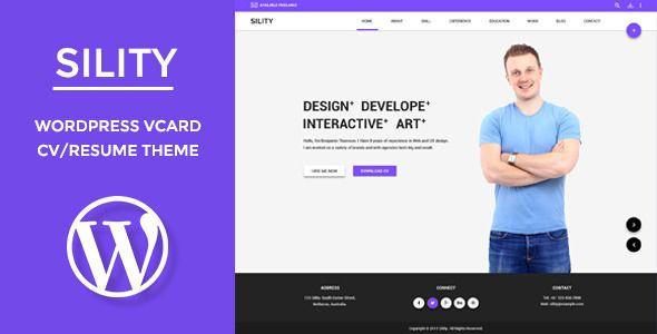wpthemeclub: Sility - vCard, CV & Resume WordPress Theme
