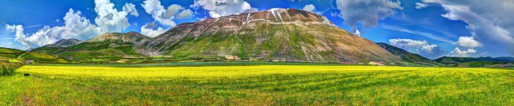 Panoramic view of Castelluccio by Alessio Gori on 500px