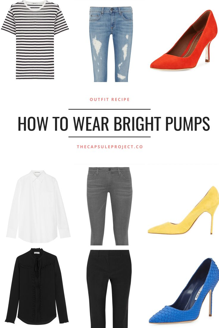 Update your look for Spring with a brightly colored heel.