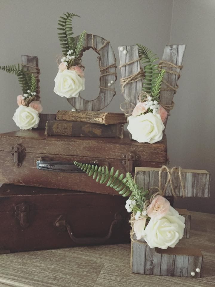 Love letters made in the rustic delights