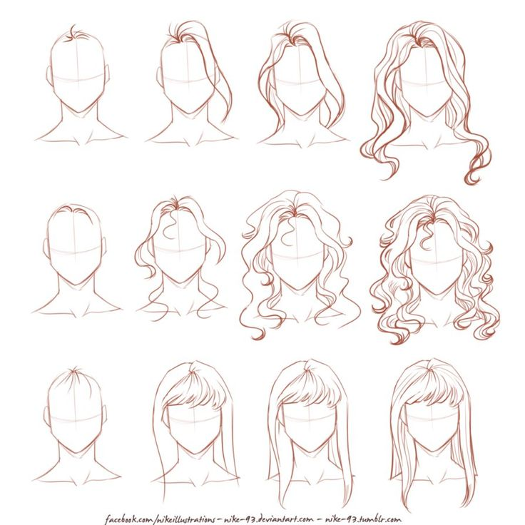 How I draw long hair by Nike-93 on DeviantArt