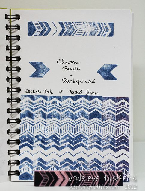 Chevron Border Stamp | Flickr : partage de photos !