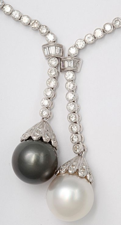 Detail: Boucheron Diamond Sautoir with South Sea Pearls. ♥✤ | Keep the Glamour | BeStayBeautiful