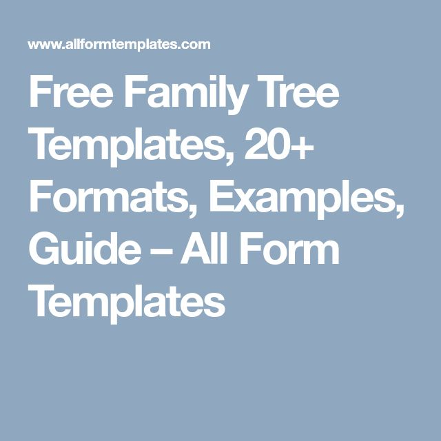 32 Best Family Tree Template Images On Pinterest Family Tree Chart