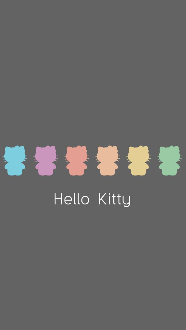 Pastel Hello Kitty silhouette iPhone 5 background