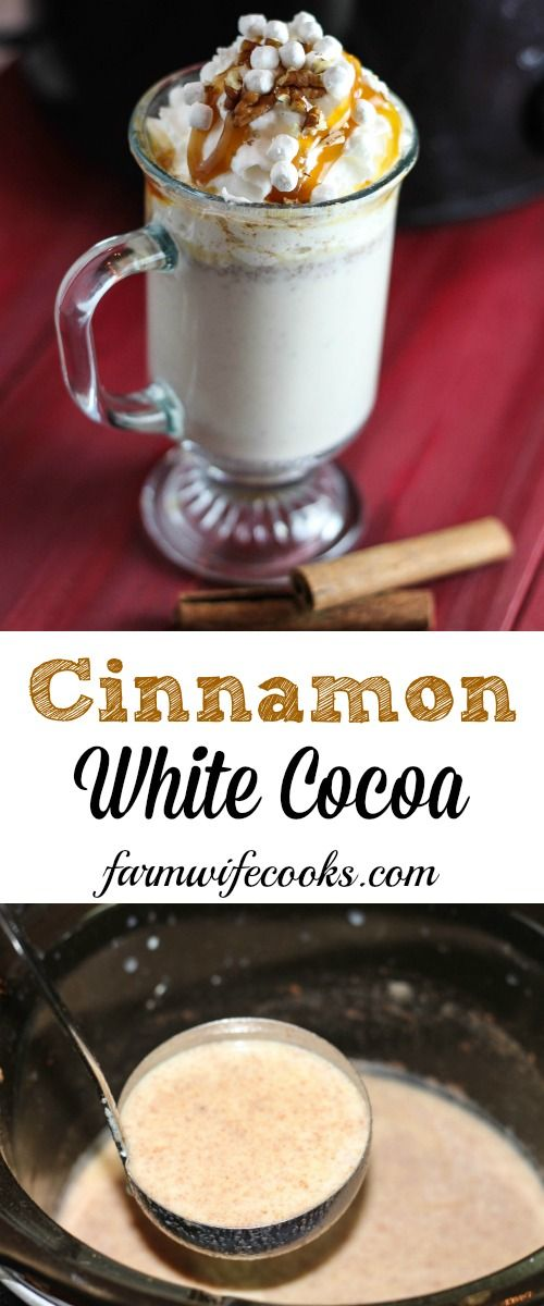 Mot your typical cocoa recipe, this Cinnamon White Cocoa is a great slow cooker drink recipe that is a hit with kids and adults alike! Our family favorite!
