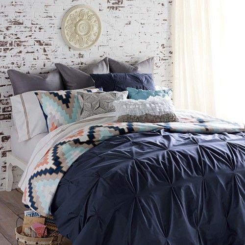 Blissliving Home Harper Navy King Duvet Set by Blissliving Home Bedding