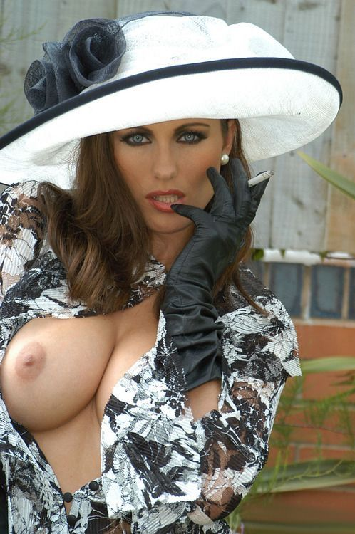 Beautiful Boob Flasher With A Cigarette