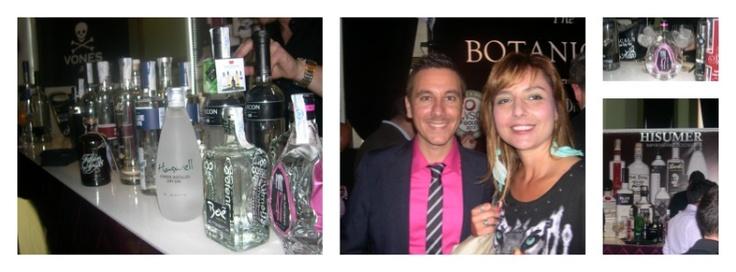 Con mis anfitriones en gin show, la empresa importadora de destilados premiun Hisumer, no os imagináis las ginebras que tienen !!!