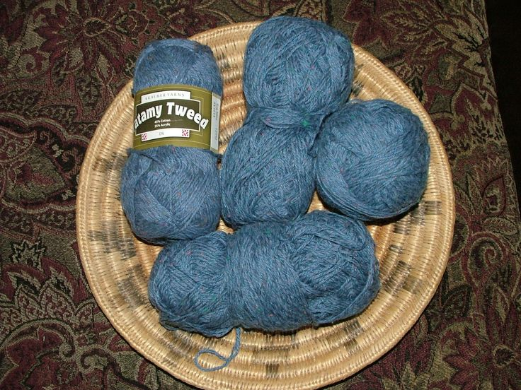 Kraemer Tatamy Tweed, Lot of 4 skeins, Total of 411g, Made in USA, Color No Y1614 Sea Blue, Lot No 12592 Blue Crochet  Knit by 3CsTwistedStitchers on Etsy