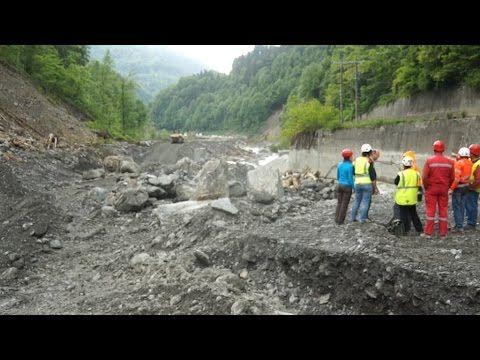 Le point sur le chantier des gorges de l'Arly.