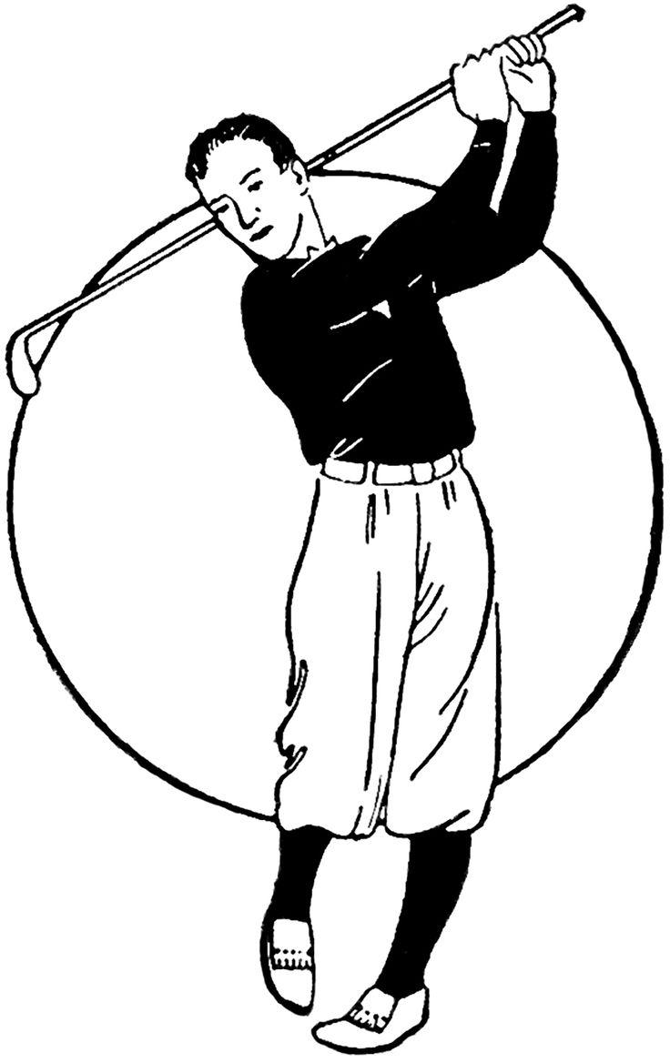 vintage golf clip art - photo #14