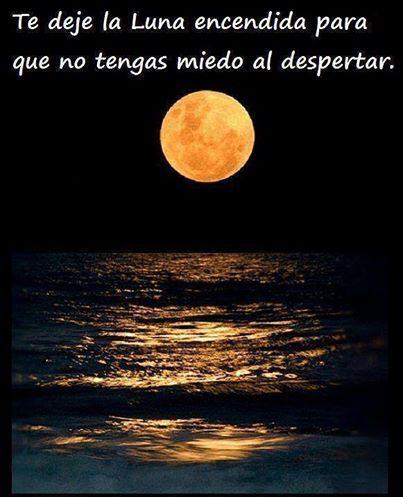 Te dejé la luna encendida...*