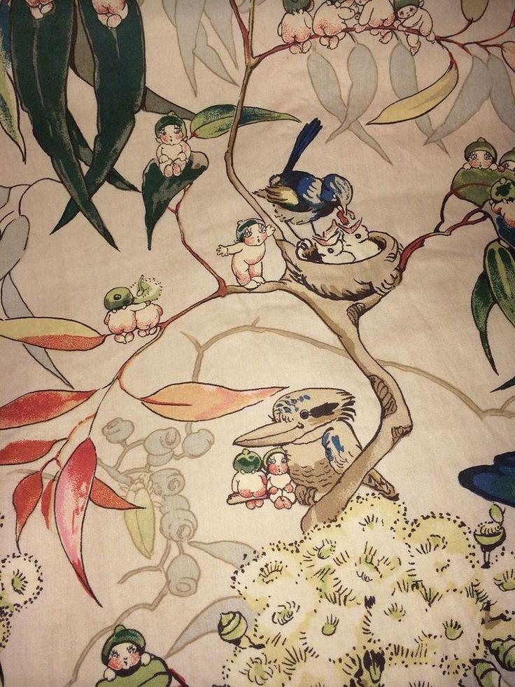 Gumnut Babies Bedding Set - Very Rare Vintage Original 1930s May Gibbs Fabric