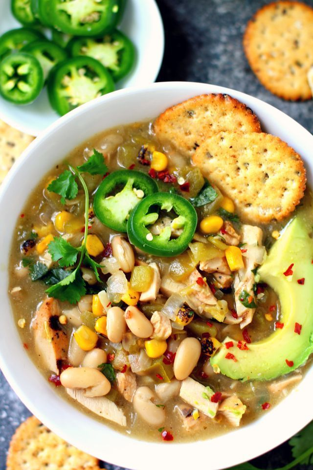 A flavorful Skinny White Chicken Chili that makes you feel warm from the inside out and so perfect served during the winter season! gluten-free & dairy-free