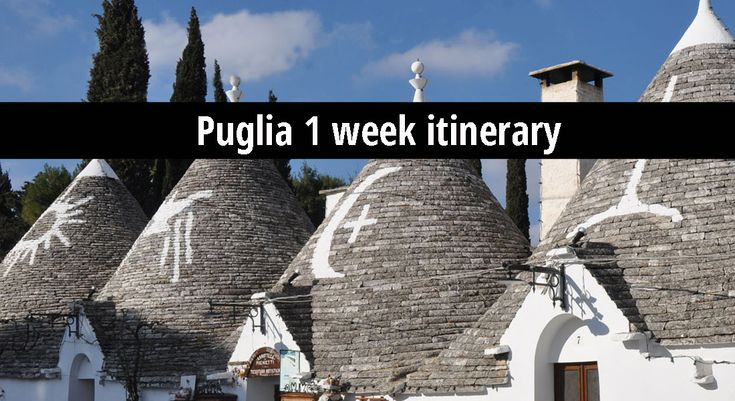 A one week general itinerary to Puglia – the Valle d'Itria and Matera. Kindle product description: Landscape, Food, & Trulli: