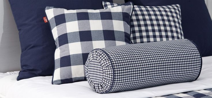 Fashionable, navy pillows