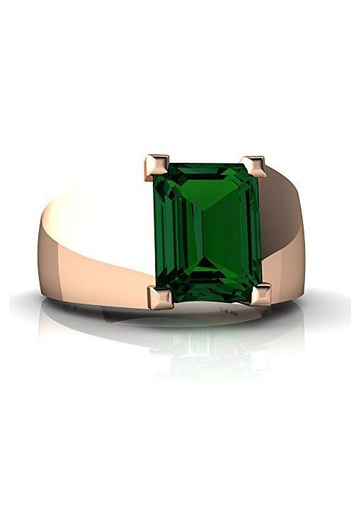 http://rubies.work/0421-sapphire-ring/ 14kt Gold Lab Emerald 9x7mm Emerald_Cut Men's Ring