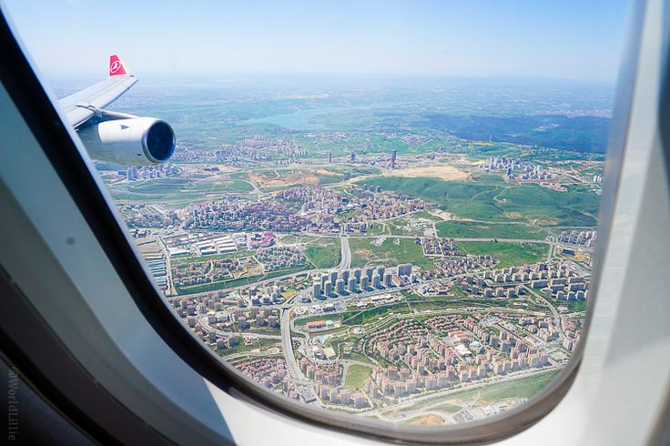 How is Turkish Airlines to Fly, and Behind the Scenes? My view of the outskirts of Istanbul on my Turkey flight.