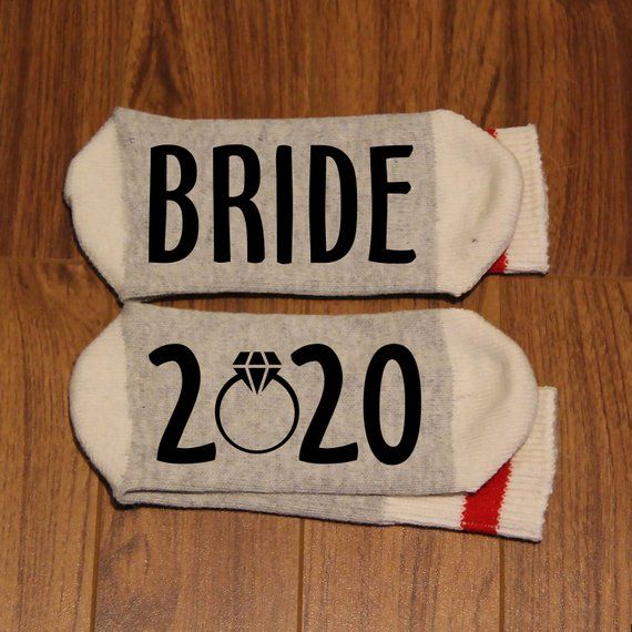 Bride 2020 (Word Socks - Funny Socks - Novelty Socks ...