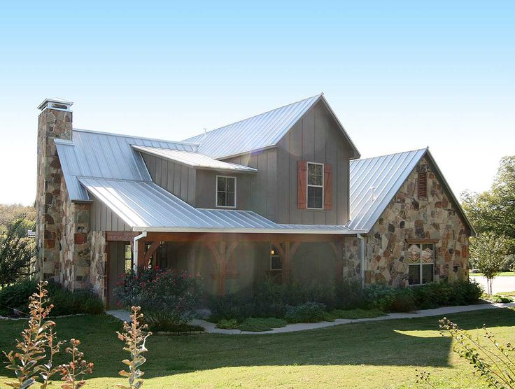 <div><ul><li>A wonderful blend of stone, board and battan and metal roofing adds distinction to this Craftsman house plan.</li><li>Covered porches wrap around the front and back of the home giving you outdoor space to enjoy.</li><li>In the spacious living room, a vaulted ceiling makes the room feel even bigger.</li><li>The open layout gives you views from the cooking, eating and living areas.</li><li>The first floor master suite has a huge walk-in closet and another beautiful ceiling…