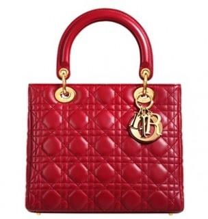 Red Christian Dior Lady Dior Handbag - classic and beautiful design