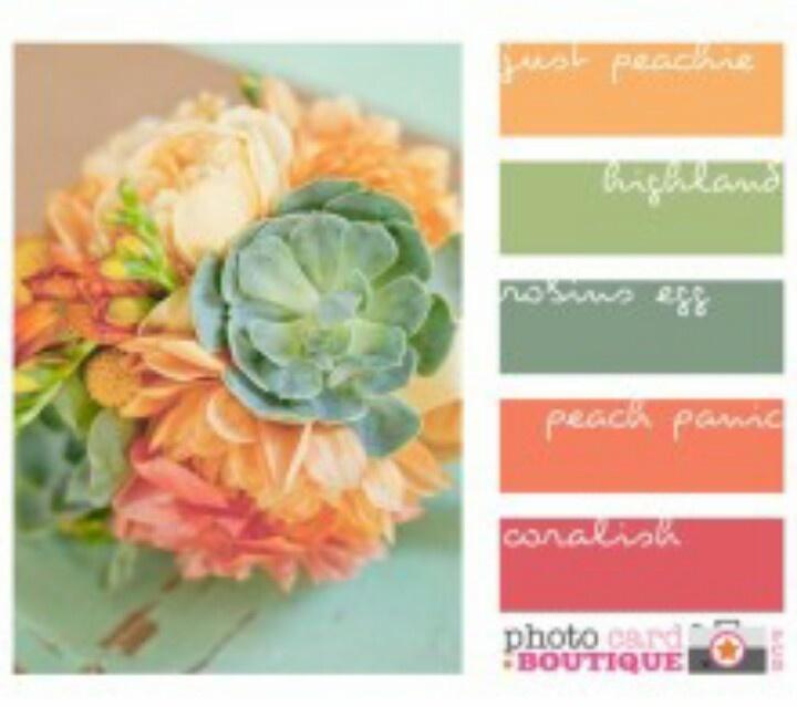 52 best color schemes images on pinterest colors color - Peach color kitchen ...