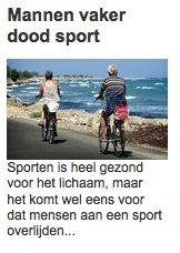 Ik heb het idee dat in deze geniale Telegraaf-titel een woordje mist: 'Mannen vaak dood sport'