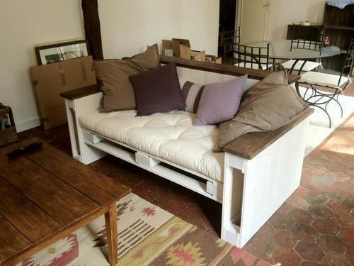 Canapé en palette - palet sofa
