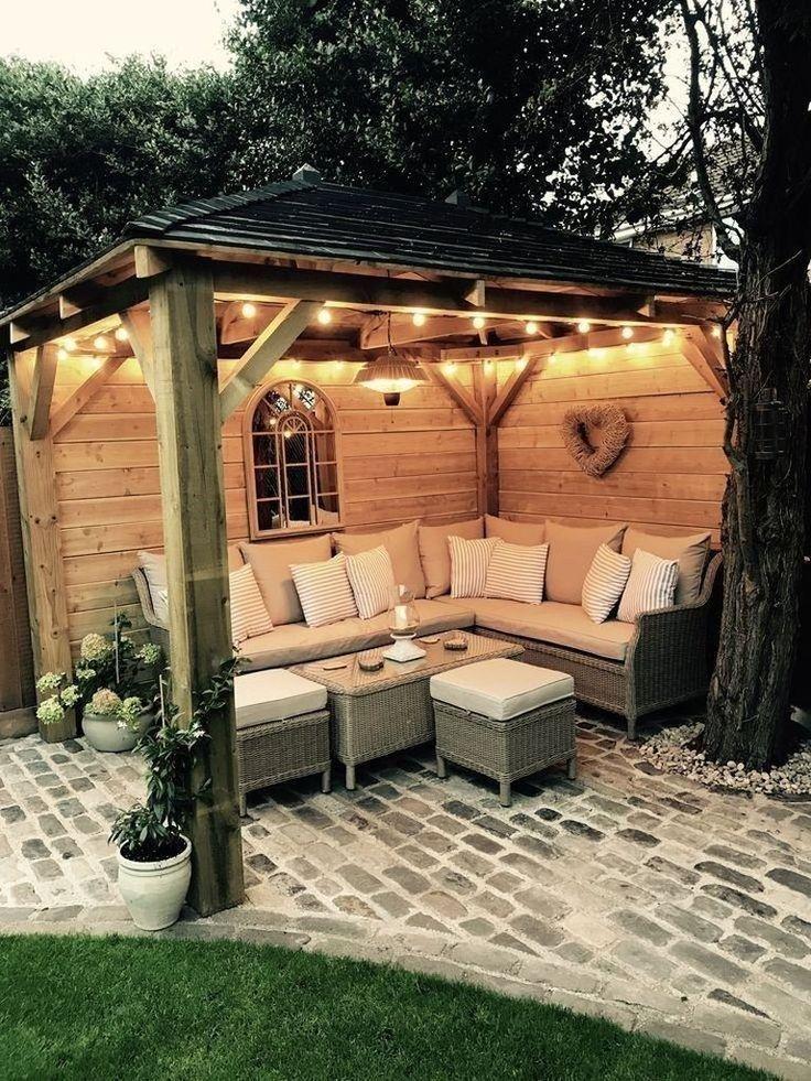Erstaunliche kleine Hinterhof-Patio-Ideen auf einem Etat