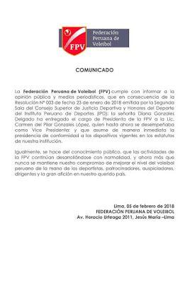 Estación Voleibol: DIANA GONZALES ENTREGÓ LA PRESIDENCIA DE LA FEDERA...