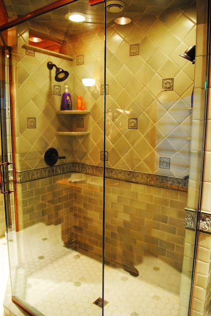 Handmade tile two person shower PCW: Bath