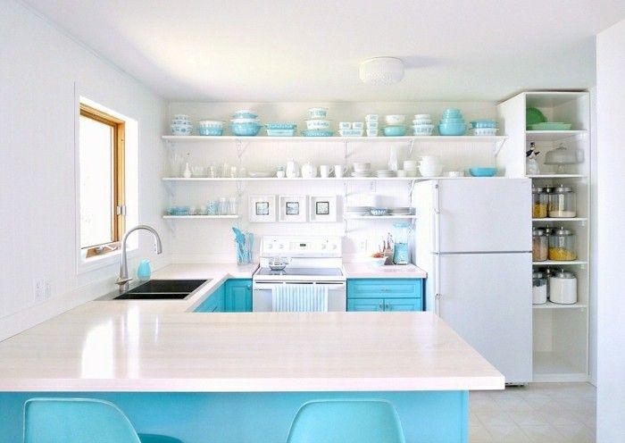 küchentrends 2017 blau und aqua als schöne akzente