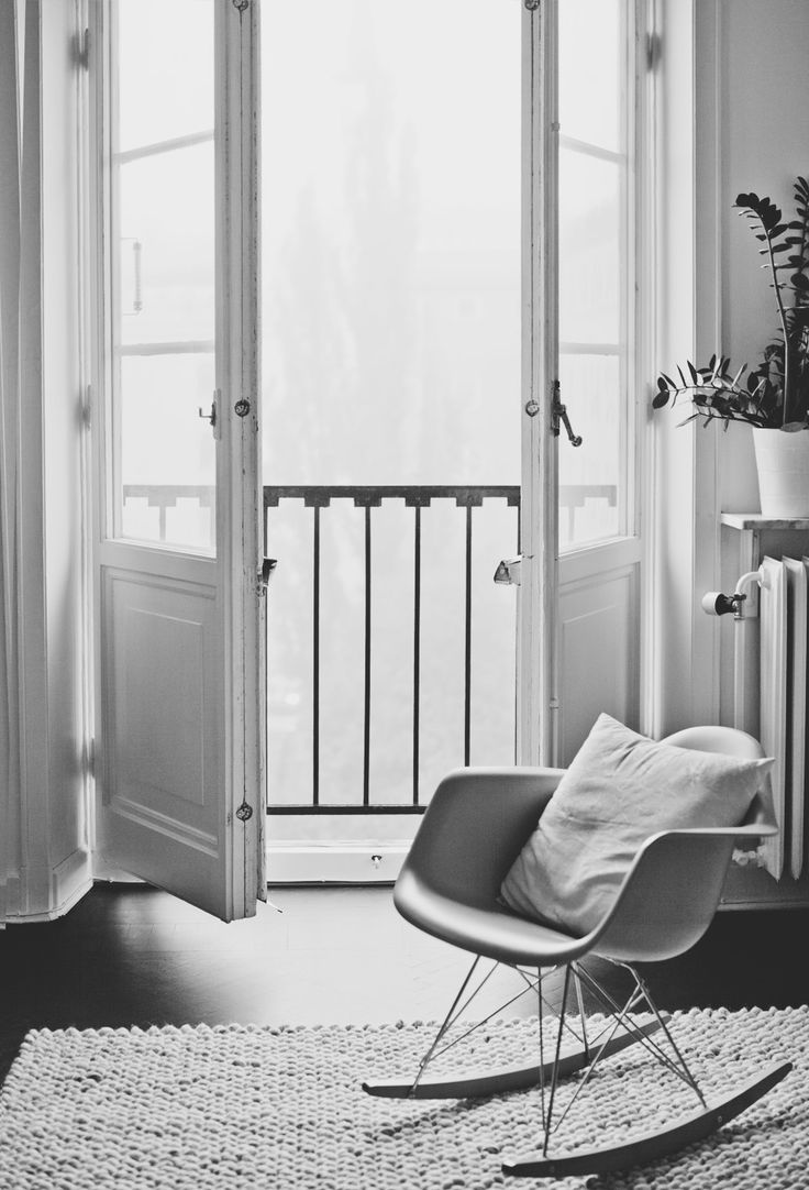 Schaukelstuhl swing insp eames rocking chair rar ahorn - Eames Rocking Chair And Open French Doors