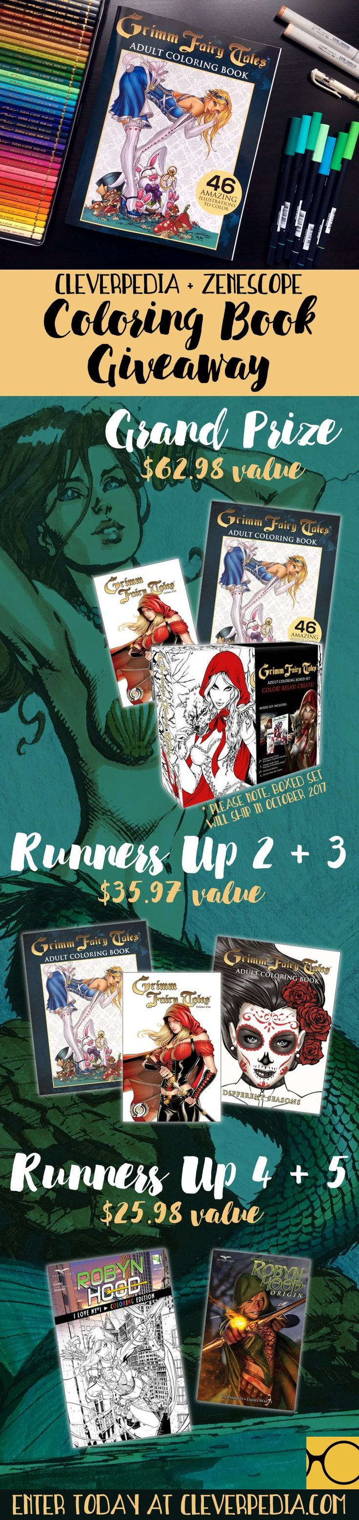 Enter The Zenescope + Cleverpedia Coloring Book Giveaway!