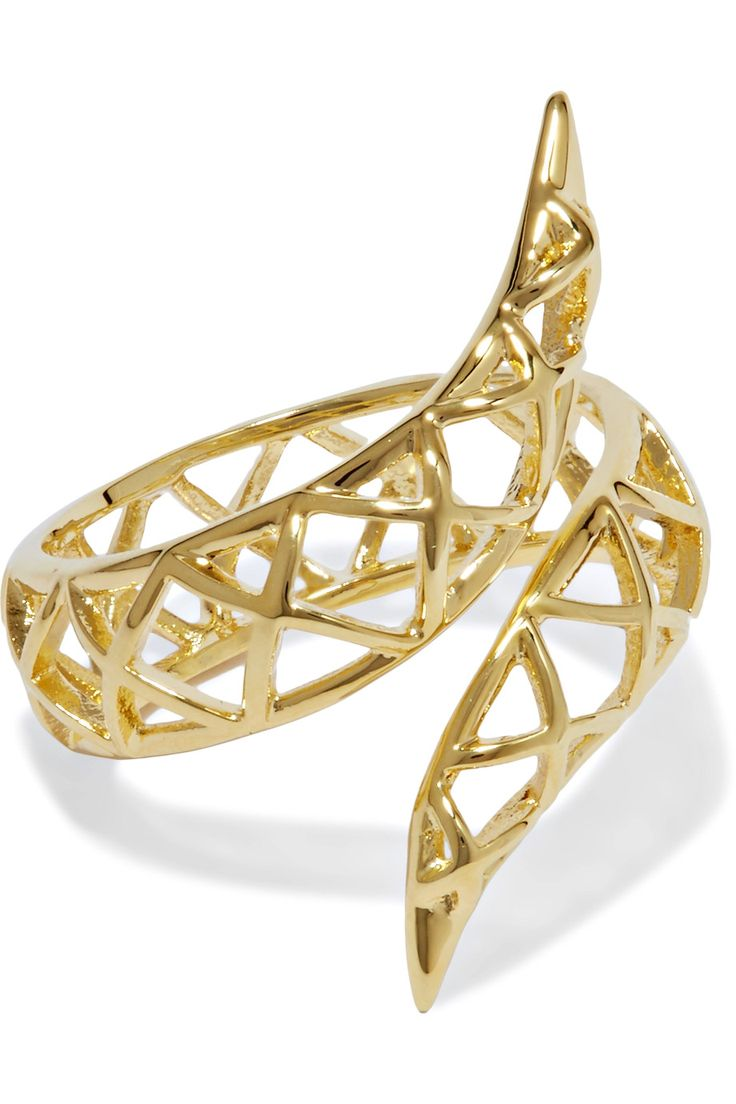 Shop on-sale Noir Jewelry Spliced gold-tone ring. Browse other discount designer Jewelry & more on The Most Fashionable Fashion Outlet, THE OUTNET.COM