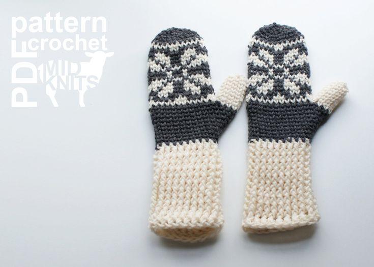 DIY Crochet PATTERN Fair Isle Crochet Snowflake by Midknits