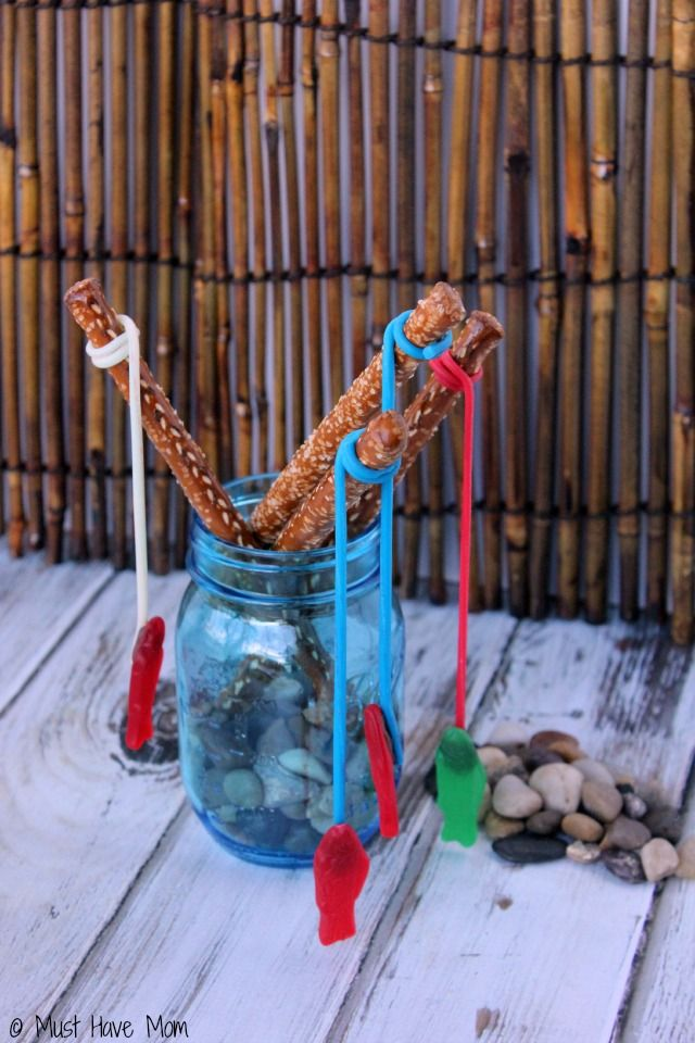 Pretzel fishing rods party food idea activities food for Rods fish food