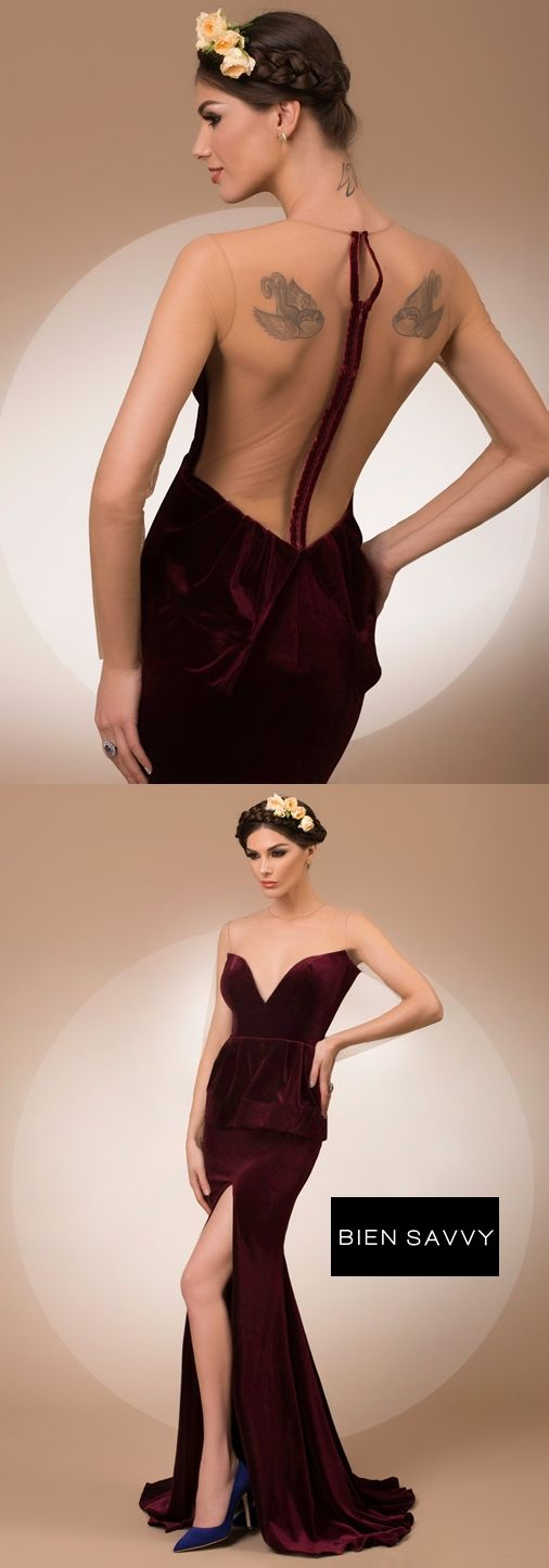 My Secret Admirer, a fabulous luxury evening dress crafted in fine velvet, My Secret collection by BIEN SAVVY