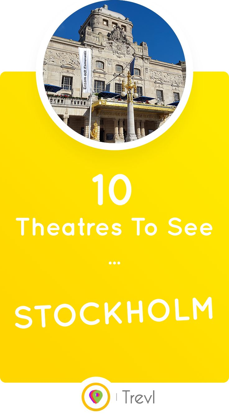 Discover 10 theatres worth seeing in Stockholm, Sweden.