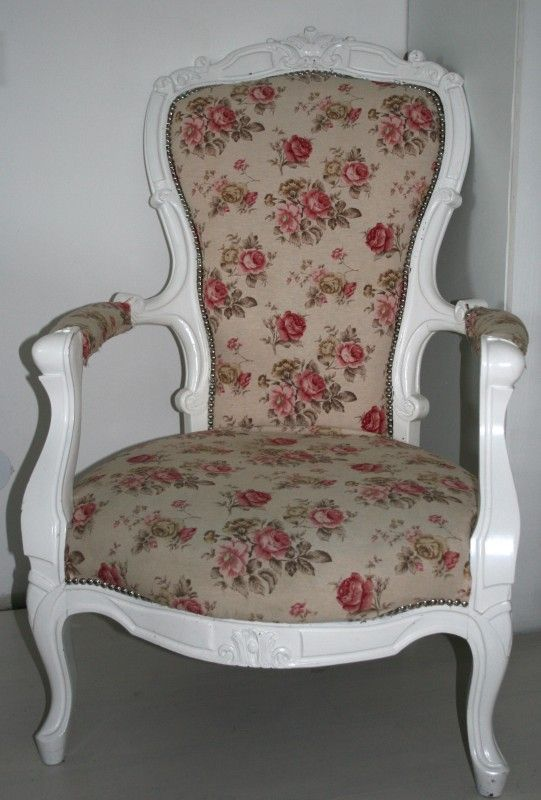 bloemen stoel