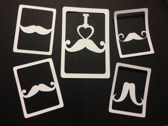 Mustache  Diecuts Scrapbooking Project Life by SpottyDonutDesignz, $4.00