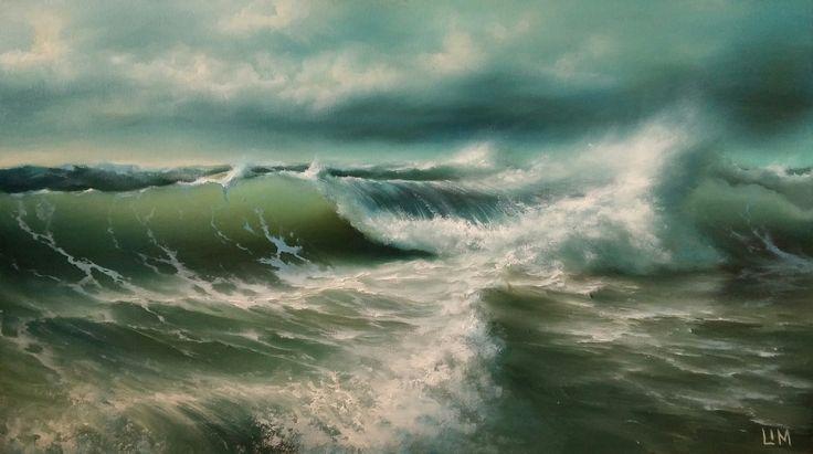 живопись - морской пейзаж, купить картину Волны балтики 2