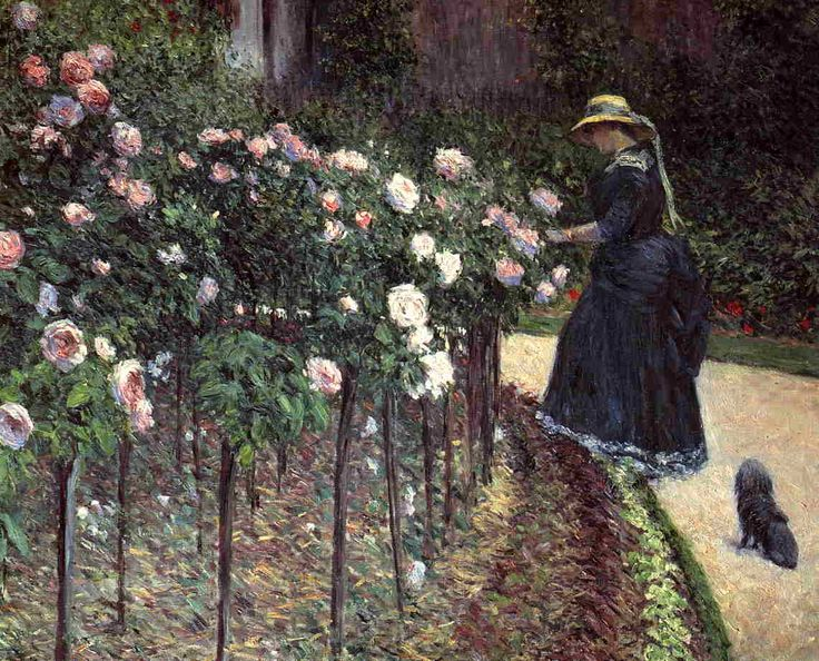 Roses in the Garden at Petit Gennevilliers by Gustave Caillebotte (1848-1894)