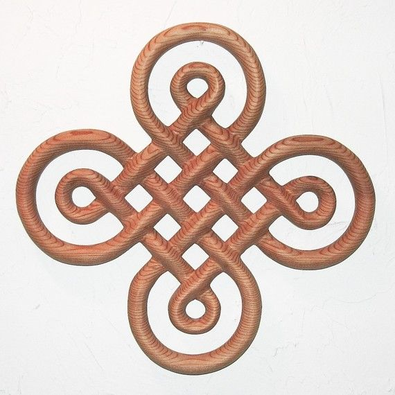 Celtic Knot of Discovery-Book of Kells-Symbol of Discovery-Wood Carving