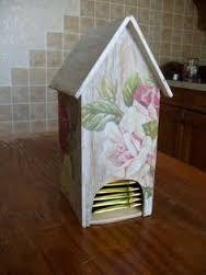 Картинки по запросу декупажа с винтажными розами картонного чайного домика