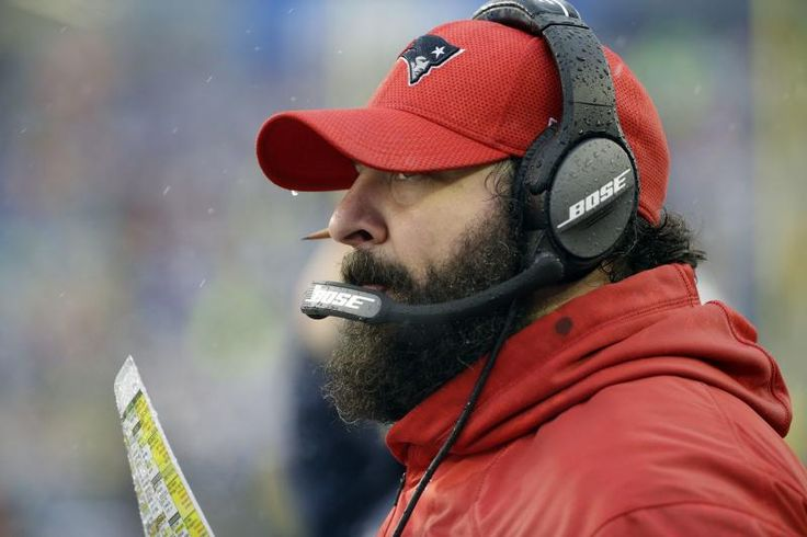 New England Patriots defensive coordinator Matt Patricia watches from the sideline during the first half of an NFL football game against the New York Jets, Saturday, Dec. 24, 2016, in Foxborough, Mass. (AP Photo/Elise Amendola)