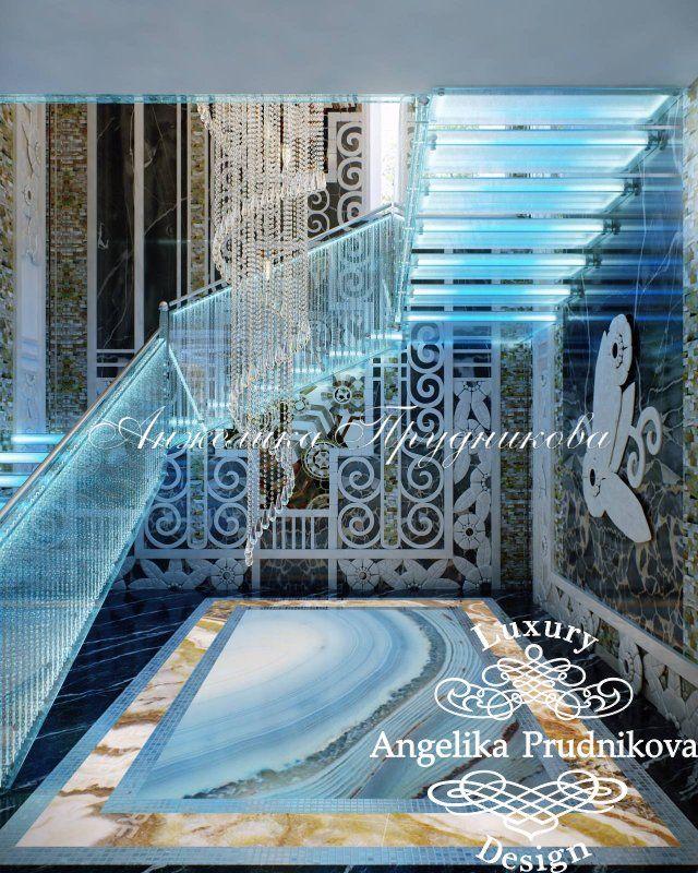 Дизайн интерьера в коттеджном поселке на Осташковском шоссе в стиле Ар Деко - фото