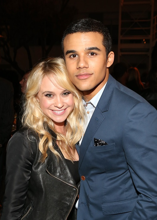 Beccad Tobin and Jacob Artist from Glee.